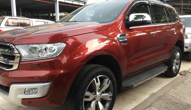 Bán xe Ford Everest Titanium đời 2017, màu đỏ ruby, nhập khẩu