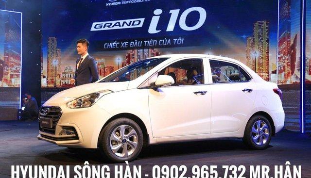 Hyundai Grand i10 sedan 2019, tặng kèm phụ kiện hấp dẫn, xe giao ngay, hỗ trợ vay vốn 80%, LH: 0902.965.732 - Mr. Hân