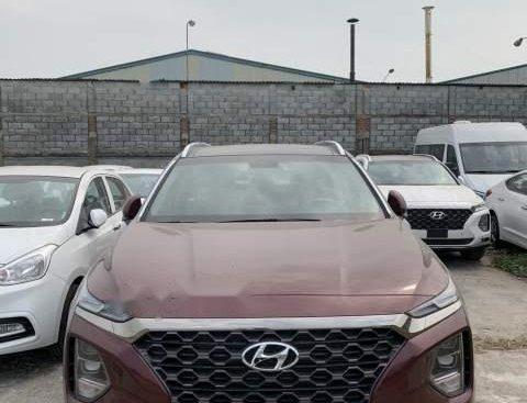 Bán Hyundai Santa Fe 2019, màu đỏ, xe nhập