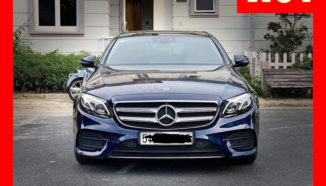 Bán xe Mercedes E300 xanh/nâu 2017 cũ chính hãng lướt, trả trước 750 triệu nhận xe ngay