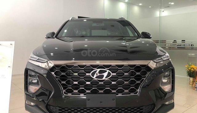Hyundai Cầu Diễn - Bán Hyundai Santafe 2019 xăng cao cấp màu đen, tặng 10triệu - nhiều ưu đãi. LH: 0964898932