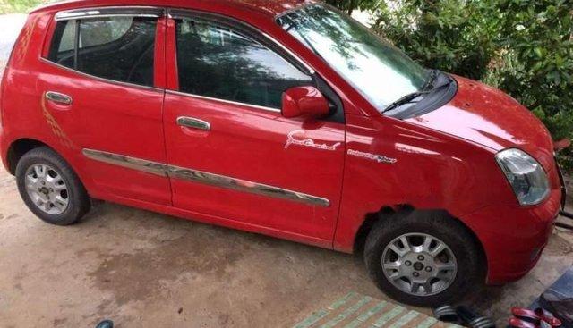 Xe Kia Morning sản xuất 2007, màu đỏ, nhập khẩu nguyên chiếc
