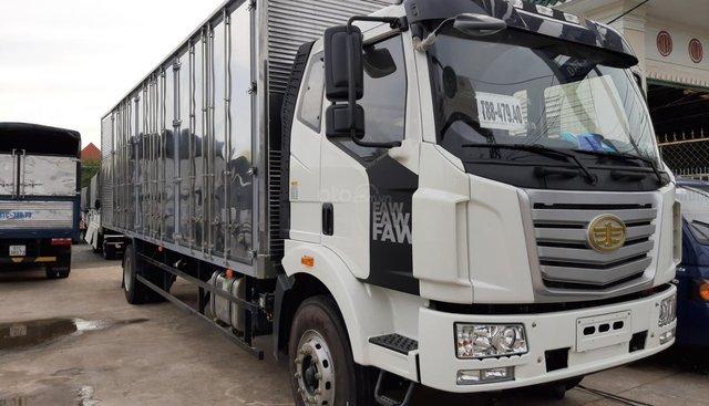 Bán xe tải Faw 6 tấn 8, thùng kín thùng siêu dài đời 2017