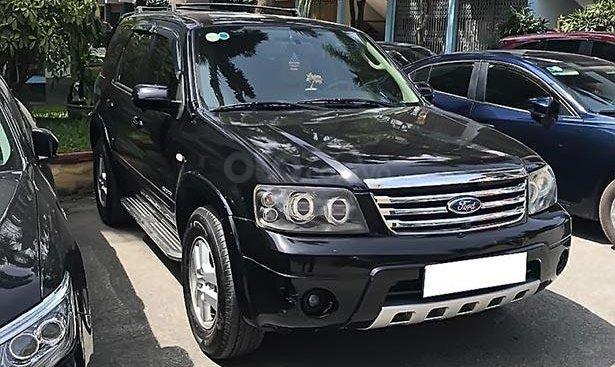 Bán ô tô Ford Escape XLS 2.3L 4x2 AT đời 2008, màu đen, ghế da