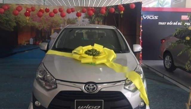 Cần bán xe Toyota Wigo đời 2019, màu bạc, nhập khẩu, giá chỉ 315 triệu