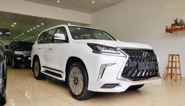Bán Lexus LX 570S Super Sport sản xuất 2019 màu trắng nội thất nâu