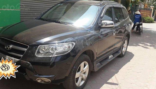 Cần bán xe Santa Fe sx 2008 màu đen, xe nhập khẩu từ Hàn Quốc