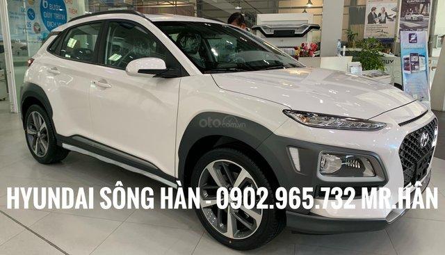 Bán Hyundai Kona 2019, màu trắng - bao biển tỉnh - giao xe tận nhà, LH 0902.965.732