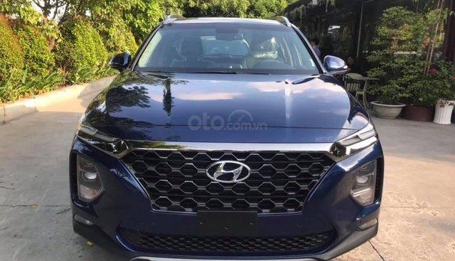 Cần bán Hyundai Santa Fe 2.2L đời 2019, màu xanh lam, giá chỉ 999 triệu