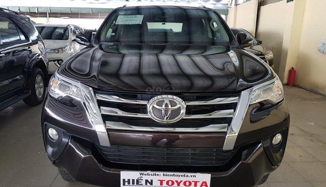 Bán Toyota Fortuner 2.4G sản xuất 2017, màu nâu, nhập khẩu