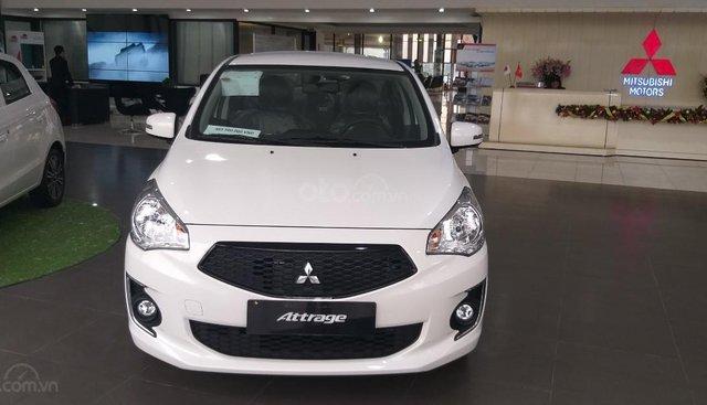 Bán Mitsubishi Attrage CVT đời 2019, màu trắng, nhập khẩu nguyên chiếc, 458 triệu giao tháng 7