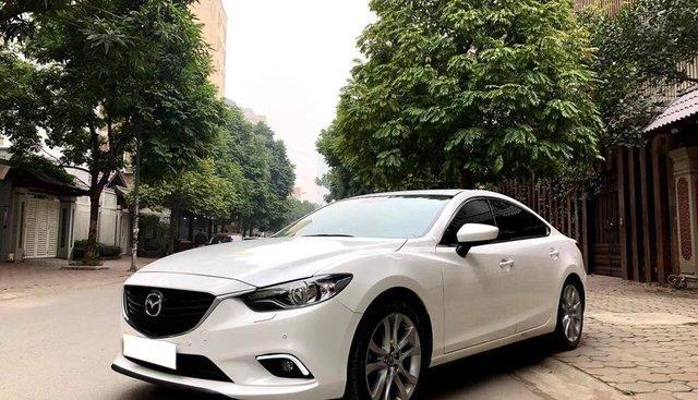 Mazda 6 2.5 2017 full option trắng ngọc trinh . Xe nữ sử dụng