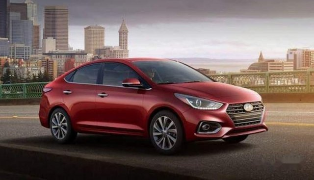 Bán xe Hyundai Accent đời 2019, màu đỏ