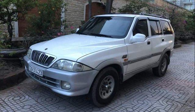 Bán Ssangyong Musso năm 2001, màu trắng, nhập khẩu nguyên chiếc, xe gia đình đi