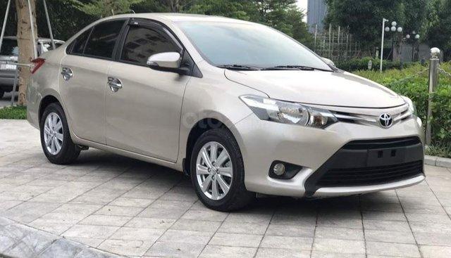 Bán Toyota Vios 1.5E CVT năm sản xuất 2017, màu vàng, 488tr