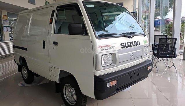 Bán ô tô Suzuki Super Carry Van đời 2019, màu trắng, xe có sẵn, giao ngay, khuyến mãi lớn