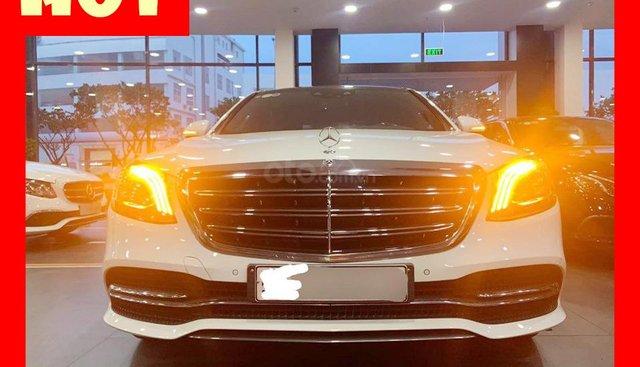 Bán xe Mercedes S450 Luxury trắng 2019 chưa lăn bánh chính hãng mới giá ưu đãi