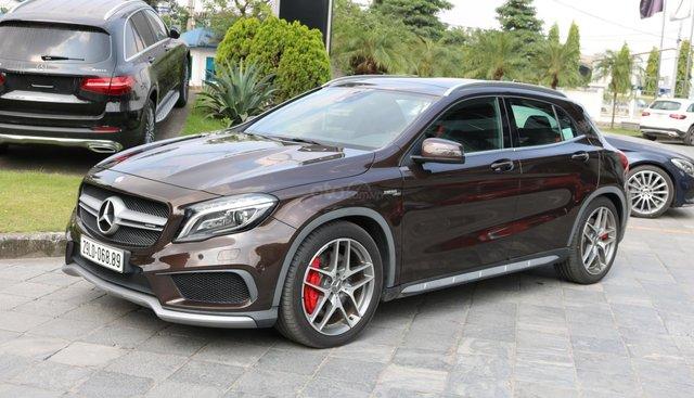 Bán Mercedes GLA45, màu nâu, nhập khẩu, chính hãng 900km, siêu xe AMG 0775138888