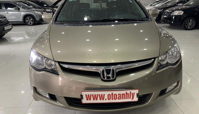 Cần bán Honda Civic 2.0AT đời 2008, màu kem (be), 385 triệu