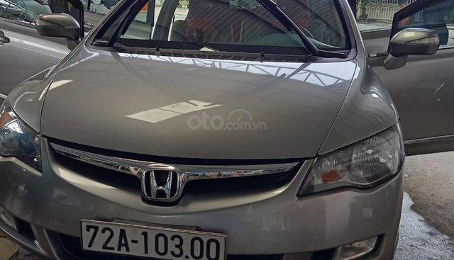 Cần bán gấp Honda Civic đời 2007 bản 2.0 số tự động, 1 đời chủ, màu xám bạc