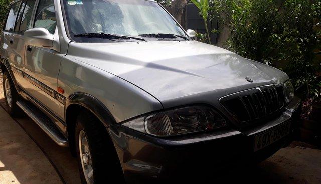 Bán ô tô Ssangyong Musso GT đời 2002 máy dầu , màu bạc