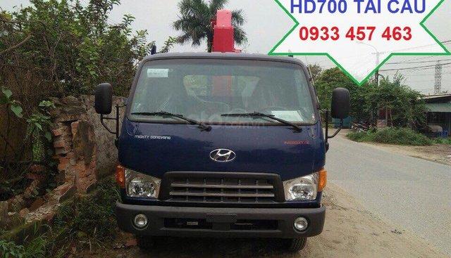 Bán xe tải cẩu Mighty Dongvang HD700 tải trọng 5250kg 2018, 850 triệu