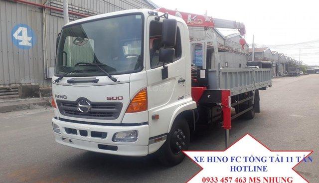 Bán Hino FC9JLTC 5 tấn 25 gắn cẩu Unic 3 tấn 4 đốt, sản xuất năm 2019, 1 tỷ