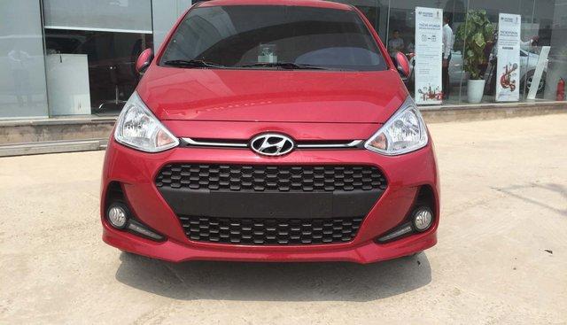 Hyundai Grand i10 1.2 AT mới 2019, màu đỏ, xe giao ngay khuyến mại lớn