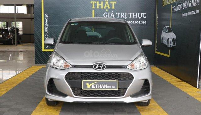 Cần bán xe Hyundai Grand i10 1.0MT đời 2017, màu bạc, giá 318tr