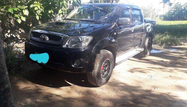 Bán Toyota Hilux đời 2011, màu đen, nhập khẩu, máy dầu 2 cầu