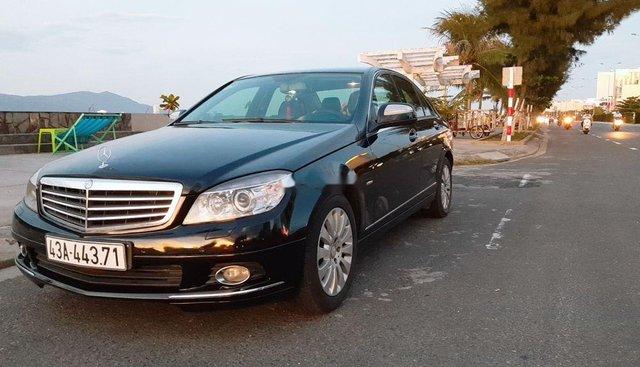 Cần bán lại xe Mercedes C200 sản xuất 2009, màu đen, xe nhập, không ngập nước, đâm đụng