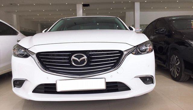 Bán Mazda 6 sản xuất 2018, màu trắng, giá 840tr giá thương lượng, hỗ trợ trả góp
