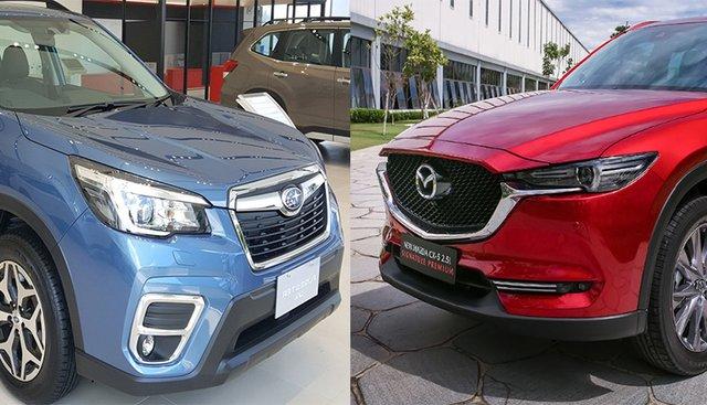 So sánh xe Mazda CX-5 2019 và Subaru Forester 2019: Kẻ đầy ắp công nghệ, kẻ đề cao sự mạnh mẽ