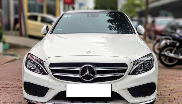 Bán Mercedes C250 AMG màu trắng/đỏ sản xuất 2015, biển Hà Nội
