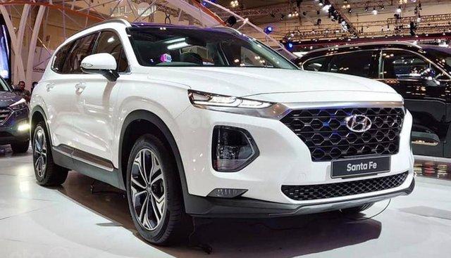 Bán xe Hyundai Santa Fe Premium 2019, màu trắng xe giao ngay