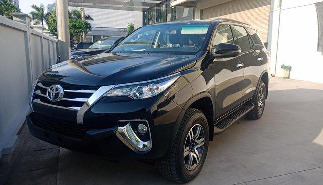 Cần bán Toyota Fortuner 2.4G 4x2 AT sản xuất 2019, màu đen. Hỗ trợ trả góp đến 85%