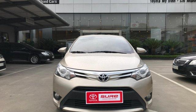 Bán Toyota Vios 1.5G AT sản xuất năm 2017, màu vàng