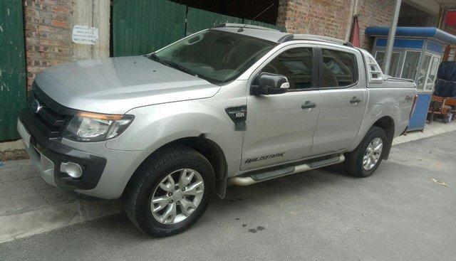 Bán Ford Ranger Wildtrak 3.2 sản xuất 2014, màu bạc, nhập khẩu