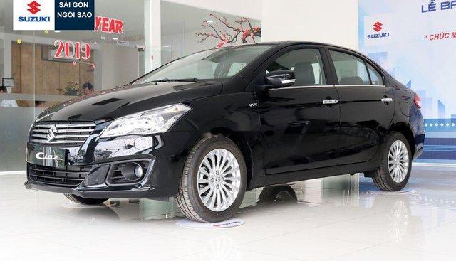 Bán Suzuki Ciaz đời 2019, màu đen, xe nhập, giá 499tr