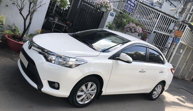 Bán Toyota Vios 2018, số tự động, màu trắng, biển TP