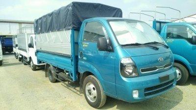Cần bán xe Kia Frontier k200 sản xuất 2019, màu xanh lam, giá 334tr, tải trọng 990-1490-1990 kg. Hỗ trợ trả góp 70%
