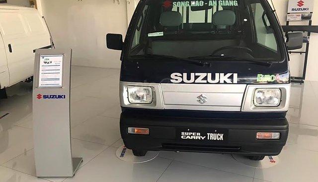 Bán Suzuki Super Carry Truck 1.0 MT đời 2018, màu xanh lam, 282tr