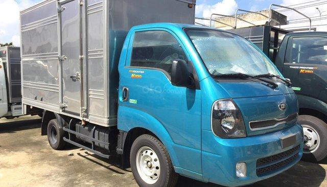 Thaco Kia K200 tải trọng 990-1990 kg màu xanh, giá 334 triệu, hỗ tợ trả góp 70%, có sẵn xe giao ngay