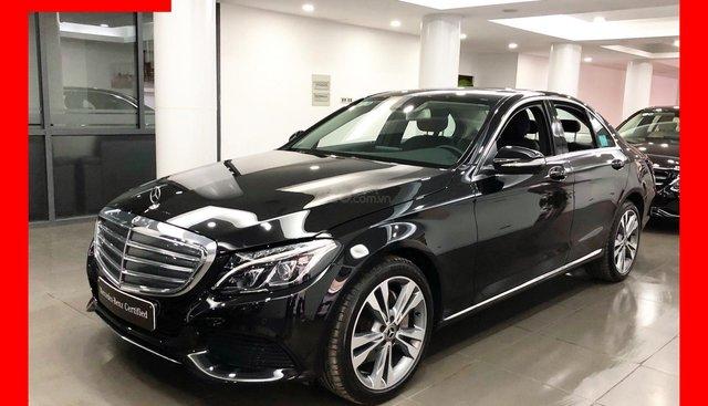 Bán xe Mercedes C250 màu đen, nội thất đen, đăng kí 2019 chính hãng như mới
