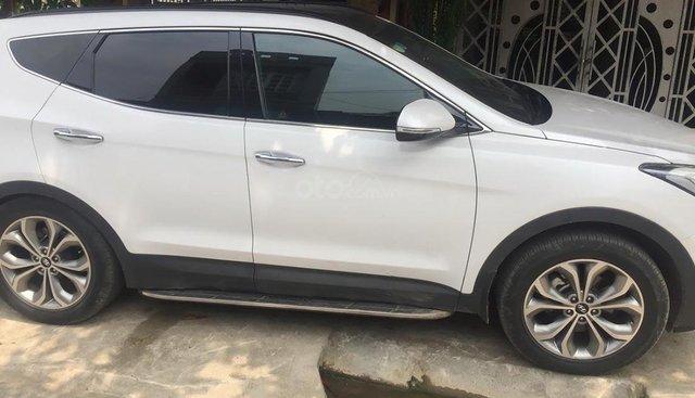 Bán xe Hyundai Santa Fe 2.2L 4WD 2015, màu trắng