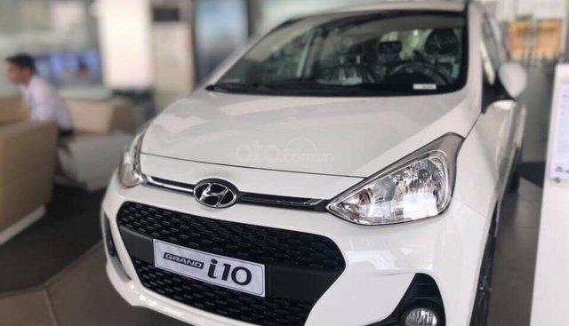 Bán Hyundai Grand i10 sản xuất 2019, màu trắng xe nhập, giá chỉ 350 triệu đồng