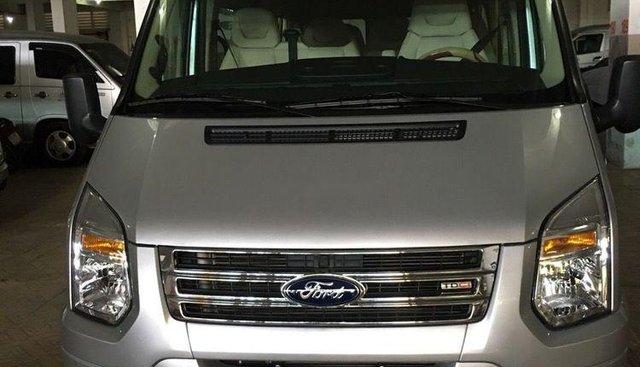 Bán xe cũ Ford Transit Luxury đời 2015, màu bạc