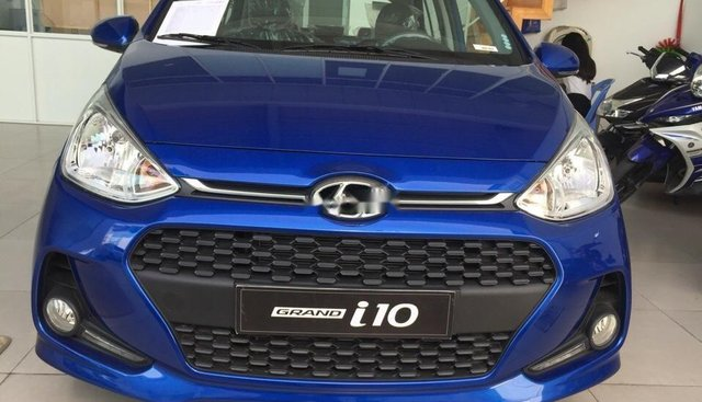 Bán xe Hyundai Grand i10 2019, màu xanh lam