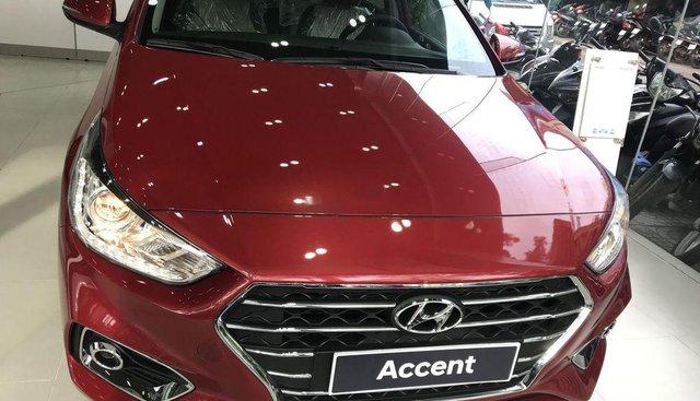 Bán Hyundai Accent 1.4AT năm 2019, màu đỏ, 499tr