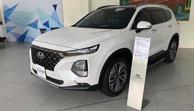 Cần bán Hyundai Santa Fe 2.4L HTRAC đời 2019, màu trắng